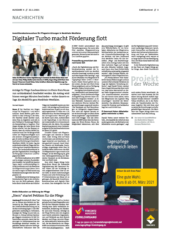"""Artikel """"Digitaler Turbo macht Förderung flott"""""""